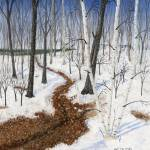"""Garden Path In Winter"" by GeorgeBurr"