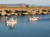 Fishermen' port in village in Cyprus