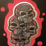 """""""Four Skulls"""" by ajkartworks"""