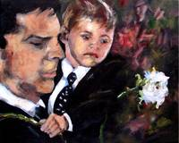 White Roses for Haley Painting of Hotch and Jack