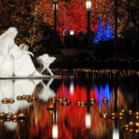 """Water Nativity Scene at Night"" by ultimateplaces"