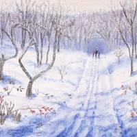 Winter Walk Art Prints & Posters by George Burr