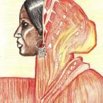 """Indian Woman"" by Amit-Grubstein-Art"