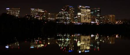 Rosslyn Skyline at Night Over The Potomac
