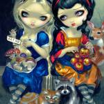"""Alice and Snow White"" by strangeling"