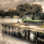 """Narrowboat and Jetty"" by InspiraImage"