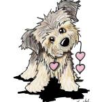 """Heartfelt Border Terrier"" by KiniArt"