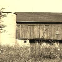"""Rural Wisconsin barn in sepia"" by Linda McAlpine"