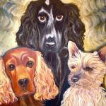 """three dogs"" by LOUISEDIONNE"