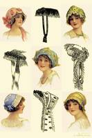 Women's Vintage Hats Collage.