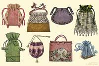 Women's Vintage Purses Collage.