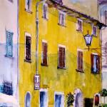 """Yellow Façade on a Castellina Street"" by ShaSha"