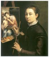 Self Portrait at the Easel by Sofonisba Anguissola