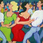 """Two Stepping at Tees Place - Cajun Dance Women"" by RebeccaKorpita"