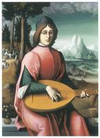 Portrait of a Young man with a Lute
