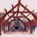 """""""Great Room of a Log Home"""" by ShaSha"""