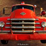 """1955 Diamond T Grille - The Cadillac Of Trucks"" by bettynorthcutt"
