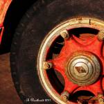 """1955 Diamond T Wheel - The Proud Hubcap"" by bettynorthcutt"