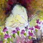"""Southern White Butterfly Watercolor by Ginette"" by GinetteCallaway"