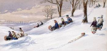 Tobogganing, Esdaile's Hill, Montreal