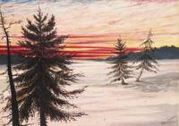 New Brunswick Sunset in Winter