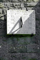 Vertical Sundial on Fenny Bentley Church (29599-A)
