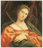 St. Catherine by Lorenzo Lotto
