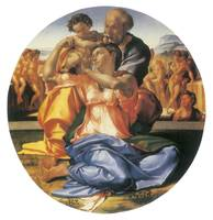 The Doni Tondo by Michelangelo Buonarroti