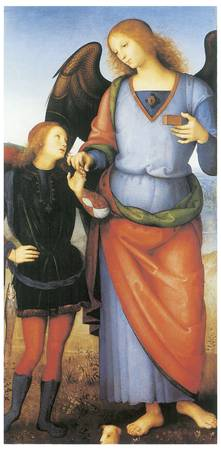 Archangel Raphael with Tobias by Pietro Perugino