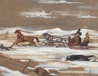 Sleighing in Newfoundland 1847