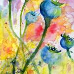 """Poppy Pods Botanical Watercolor Painting"" by GinetteCallaway"