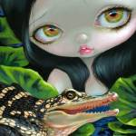 """Mermaid with a Baby Alligator"" by strangeling"