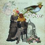 """Bloom Altered Art Mixed Media Collage"" by Gidget26"
