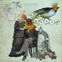 Bloom Altered Art Mixed Media Collage