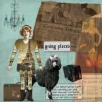 """Going Places Altered Art Collage"" by Gidget26"