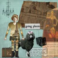 Going Places Altered Art Collage