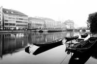 Boats on the river Limmat