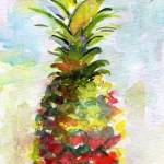 """Pineapple Tropical Fruit Still Life Watercolor"" by GinetteCallaway"
