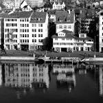 """Old city reflecting on the river Limmat"" by MatteoCozzi"
