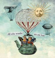 All Who Wander Altered Art Collage