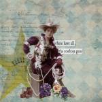 """Vintage Cowgirl Altered Art Collage"" by Gidget26"