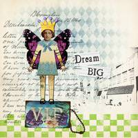 Dream Big Altered Art Collage