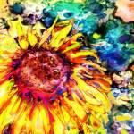 """Happy Sunflower"" by Tanya_Dawn_Art"
