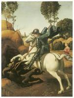 St. George and the Dragon by Raffaello Sanzio