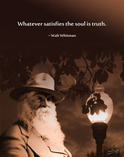 Walt Whitman Poster by I.M. Spadecaller