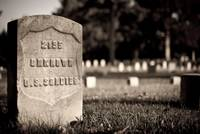 Unknown Soldier Tombstone - Black and White