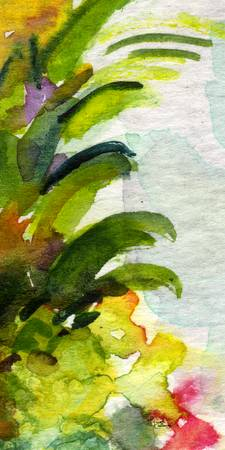 Tropicana #2 from Set Watercolor by Ginette