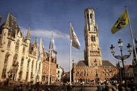Iconic buildings in Bruges, Belgium