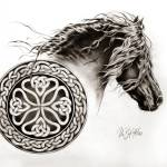 """Celtic Friesian"" by Art-Equus"