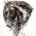 """Friesian Horse"" by Art-Equus"